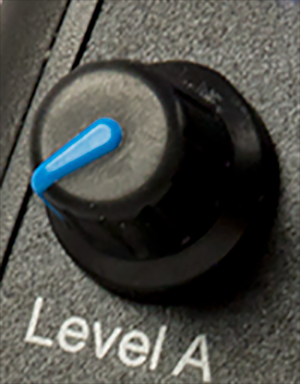 Closeup of an ElectroPebble control knob